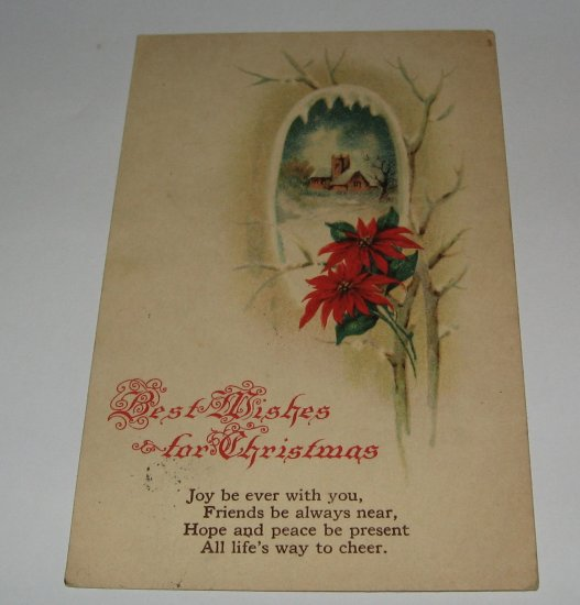 Best Wishes For Christmas Postcard lot  C52