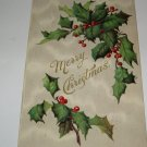 Merry Christmas Holly Postcard printed in Germany lot  C54