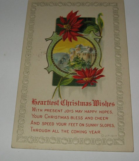 Heartiest Christmas Wishes Embossed Postcard lot  C55