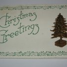 Christmas Greetings embossed tree lot  C56