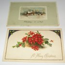 2 Christmas Postcards lot  C58