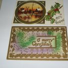 2 Merry Christmas embossed postcards C62