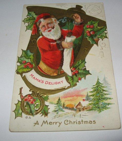 Santa Claus Mama's Delight Embossed postcard lot 71