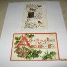 2 Christmas Postcards B.B. London printed in Germany lot 77