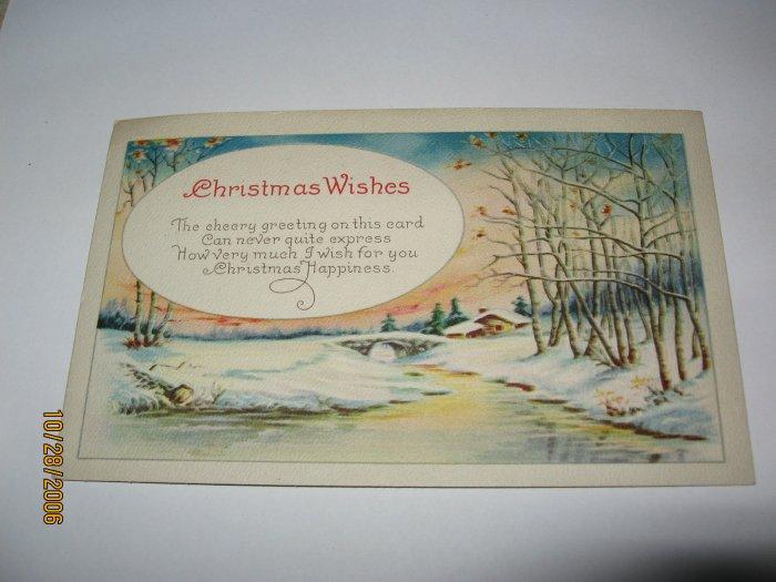 Christmas Wishes Postcard lot 83