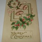Merry Christmas embossed postcard printed in US lot  c94