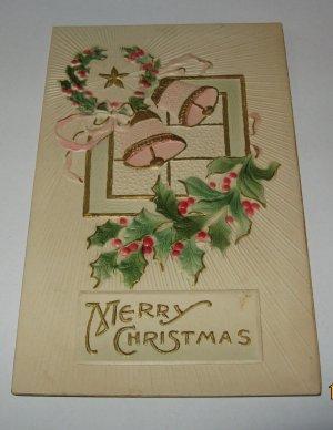Merry Christmas embossed postcard printed in US lot  c94