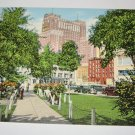 Schroeder Hotel From Fourth Ward Park,Milwaukee,Wis. postcard W.25