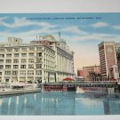 Milwaukee River looking north,Milwaukee,Wis. postcard w31