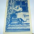Man and Lady on Step Valentine Postcard R13