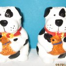 Black and White Spotted Dog Salt and Pepper Shakers