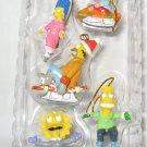 The Simpsons 5 piece Miniature Ornaments