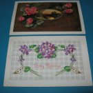 Violets and Roses German Postcards lot G9