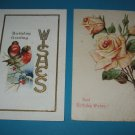 Birthday Postcards Birds and Roses B4