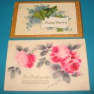 Birthday Wishes 2 postcards of flowers B13