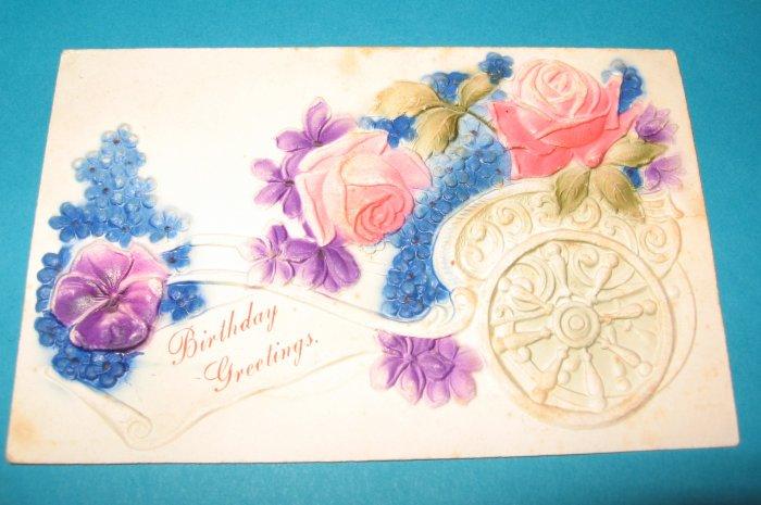 Vintage Postcard Birthday B21