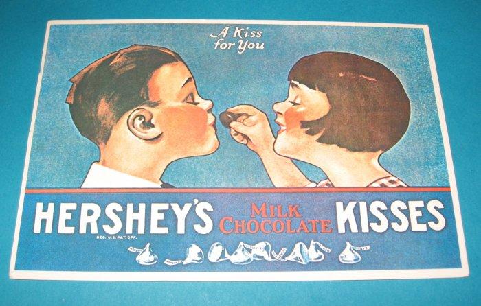 Hersheys Milk Chocolate Kisses Postcard