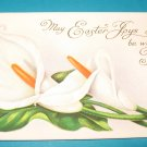Easter Flower Postcard Embossed E23