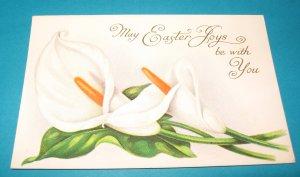 Easter Flower Postcard Embossed E23