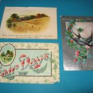 Lot of 3 Vintage Greeting Postcards