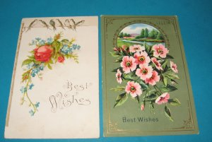 Roses and Birds German Greetings postcards G25