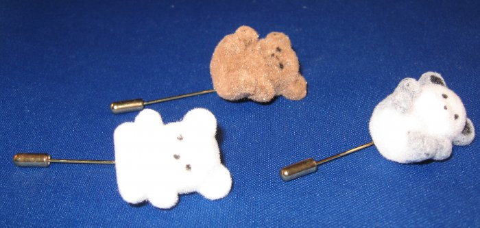 3 Teddy Bear Pins