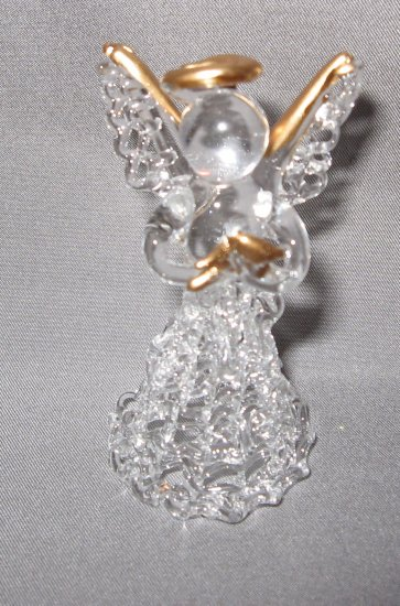 Glass Angel with gold trim
