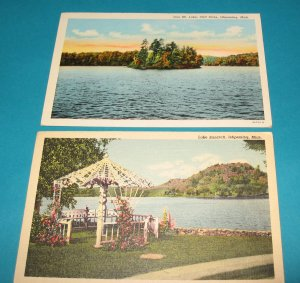 Ishpeming Michigan Postcards S3 lot of 2