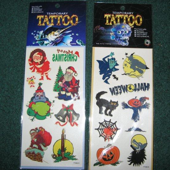 Halloween and Christmas Tattoos
