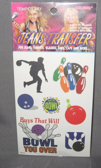 Bowling Jeans Transfers