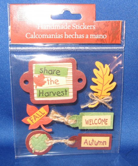 Autumn Fall Leaves Thanksgiving Scrapbook stickers