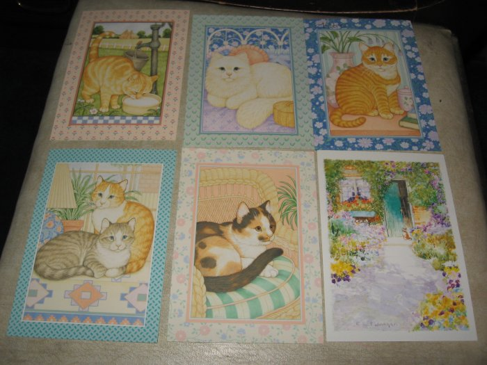 Cat Kitten Postcards Lot of 6