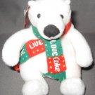 Coca Cola Give Live Love Coke Plush Beanie Bear