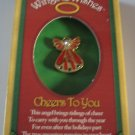 Christmas Wings and Wishes Cheers to you angel pin