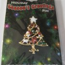 Christmas Holiday Seasons Greetings Christmas Tree  Pin