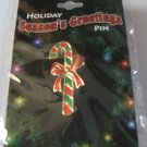 Christmas Holiday Seasons Greetings Candy cane  Pin