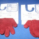Pair of knit mittens and gloves for crafting