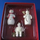 3 snowmen Christmas Ornaments