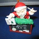 Santa and Blackboard Mistletoe Magic Collection Christmas ornament