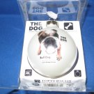 The Dog Bull Dog collectible Glass  Christmas ornament