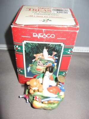 All I want for Christmas Santas sack Ornament Enesco 577618 c. 1991