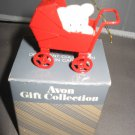 Teddy in carriage Teddy bear ornament collection  Avon Christmas ornament