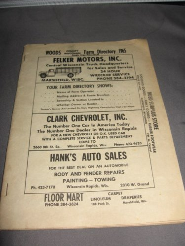 Wood County Wisconsin Farm Directory 1965
