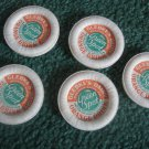 5 Glebke's Dairy Green Spot Orange Drink Bottle Caps Wisconsin Rapids,Wi