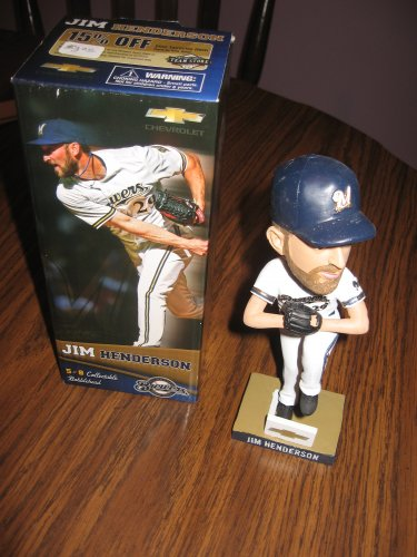 Jim Henderson 2013 Milwaukee Brewers  Bobblehead