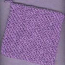 NEW,  handmade crocheted hot pad and dishcloth, purple in color