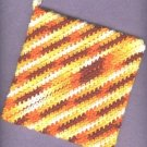 Handmade crocheted hot pad and dishcloth new