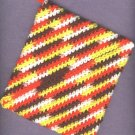 Crocheted hot pads , variegated colors..2 new
