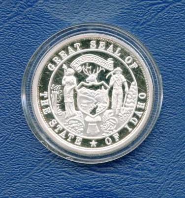 Idaho State Centennial medallion coin 1oz. .999 pure silver