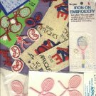 LOT of vintage TENNIS theme APPLIQUES